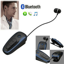 New listing Wireless Bluetooth Stereo Earphone Headphone Clip Headset w/ Retractable Cable