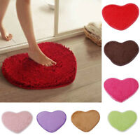 Anti-Skid Love Heart Shaped Shaggy Fluffy Rugs Area Rug Bedroom Floor Mat Carpet