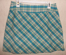 EXCELLENT WOMENS ST. JOHN'S BAY STRETCH BLUE PLAID SKORT  SIZE 12