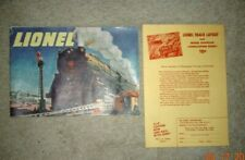 Original 1947 LIONEL TRAINS CONSUMER CATALOG w/Track Layout Coupon- VG Condition