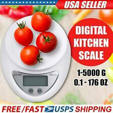 New 5KG Digital Kitchen Food Cooking Scale Weigh in Pounds & Grams Ounces USA