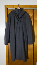 Raf Simons AW00-01 Grey Wool/Alpaca Hooded Coat
