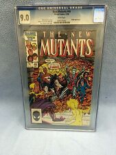 New Mutants #46 (Dec 1986 Marvel) CGC 9.0 VERY FINE Mutant Massacre BWS CVR