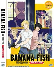 DVD Banana Fish the Complete Anime Series 24 Episodes English Subtitles