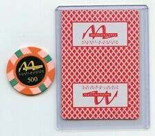 $500 Las Vegas TV Show Props Montecito Chip and Ace of Spades Card rare Find.