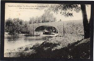 USA - Aquedoctan Bridge, The Weirs, Lake Winnipesaukee, N. H.- Indian Battles