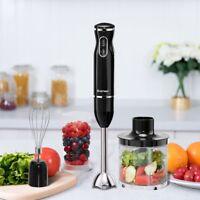 Kitchen 4-in-1 Immersion Hand Blender Set Food Chopper Beaker Machine 2 Color US