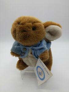 "Peter Rabbit Bunny 8"" Beatrix Potter Stuffed Animal Eden Plush Toy Blue Jacket"