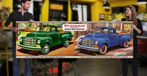 1950 Studebaker Dealer Garage Banner Truck Pickup Vintage Style Man Cave