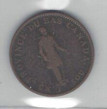 **1837**Canada Half Penny Token, LC-8A2  Coin Mart Graded**VF-30**