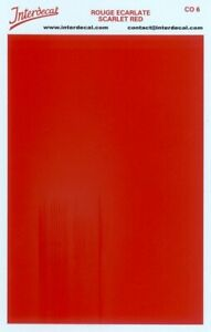 solid color plates (95 x140 mm) scarlet red Waterslide decal CO06