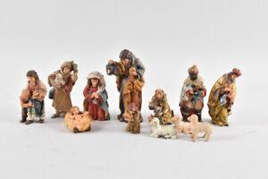 f50t04- Konvolut Krippenfiguren Holz geschnitzt und gefasst