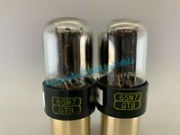 RAYTHEON 6SN7GTB SHORT BOTTLE SIDE GETTER TUBES PLATINUM MATCHED on AT1000