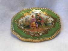 Antique Ambrosius Lamm-Hand Painted Porcelain Bonboniere/Trinket Box-Very Rare!!