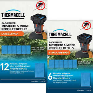 Thermacell Backpacker Mosquito and Midge Repeller Mat-Only Refills 12 or 6 Pack