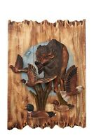 Buffalo Eagle Ducks And Pheasant Wood Carving Wall Art Cabin Rustic Decor