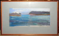Connie Hayes '86 Modernist View of Maine Coast Important Maine Contemporary