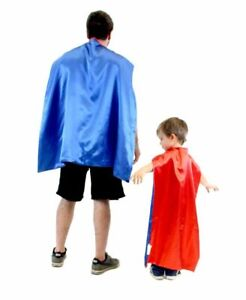 Choose Color: Adult Reversible Superhero Hero Villain Costume Accosory Capes