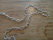 """20"""" Sterling Silver TINY 2 mm Figure 8 Fine Chain Necklace"""