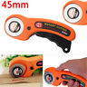 45mm Rotary Cutter With 5 Refill Blades Quilters Sewing Fabric Cutting Tools