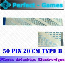 Nappe ruban flat cable flex ribbon FFC 50 pin 200mm 20cm 0.5 pitch type B