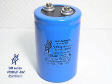 47000uF  -63V F&T  GM-Series Hi-End Audio Grade Electrolytic Caps  x 1 piece