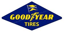 "GOODYEAR TIRES DIGITALLY CUT OUT VINYL STICKER. 6"" X 3"" OVERALL SIZE."
