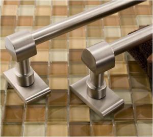 "Signature Hardware 282050 Classique 18"" Towel Bar - Brushed Nickel"