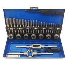 32-teilig Gewindeschneider Gewindebohrer Werkzeug Koffer Set aus legiertem Stahl
