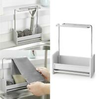 Kitchen Sponge Holder Stainless Steel Sink Caddy Organizer Soap Tool Useful