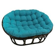 Exceptional 3304 MS AB 63X45 Inch Double Papasan With Micro Suede Cushion Aqua Blue