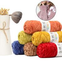 100g/Roll Wool Craft Yarn Thick DIY Velvet Knitting Sweater Chenille Crochet