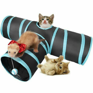 Cat Tunnel 3 Way Pet Y Shape Collapsible Playing Tube Rabbit Hamster Puppy Toys