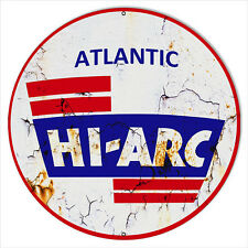 Hi-Arc Aged Looking Motor Oil Reproduction Metal Sign 18x18