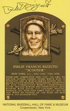 PHIL RIZZUTO SIGNED YELLOW/GOLD HALL OF FAME 1994 PLAQUE NEW YORK YANKEES