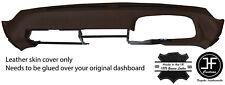 BROWN TOP GRAIN LEATHER DASH DASHBOARD COVER FITS PORSCHE 928 78-95 STYLE 2