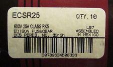 EDISON BULLET ECSR25 Time Delay 600V 25 AMP Fuse