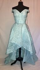 COLETTE CL18274 PROM PARTY PAGEANT DRESS 8 AQUA BLUE NEW WITH TAGS