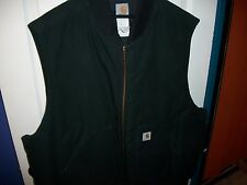 Carhartt Men's 5x Duck Vest Black Zippered All Weather