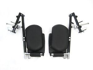 Wheelchair Parts Elevating Leg Rest Footrest E&J Style EL-18BB-EJ-DY Pair New