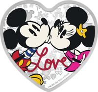 2019 Niue - Disney Silver Coin - With Love - Mickey Minnie Mouse Present Gift