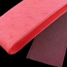 """9 yards Piece  4"""" (10 cm) Coral Pink Horsehair Braid / Crinoline Trim"""