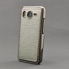 HTC Desire HD (G10) Schutzhülle Hardcase Cover Case Schutz Luxus Bling Silber
