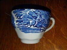 Vintage Blue & White England Transferware Paul Revere Tea Cup