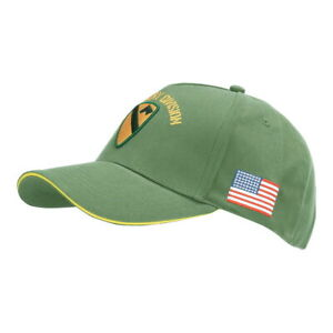 US Army Baseball Cap 1st Cavalry Division Vietnam First Team Patches Flag WWII O