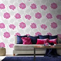Was £15 Fresco Bird Trial Black//White Floral Wallpaper