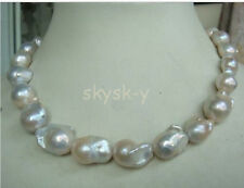 "HUGE 18""15-20MM AUSTRALIAN SOUTH SEA NATURAL WHITE NUCLEAR PEARL NECKLACE"