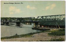 Brewer Bridge, Brewer, Maine 1917