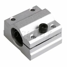 8mm SC8AJ Adjust Linear Motion Ball Bearing Slide Bushing Block Silver