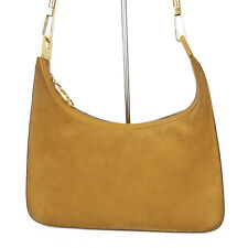 Auth GUCCI GG Interlocking Suede Leather  Shoulder Hand Bag Italy F/S 14540b